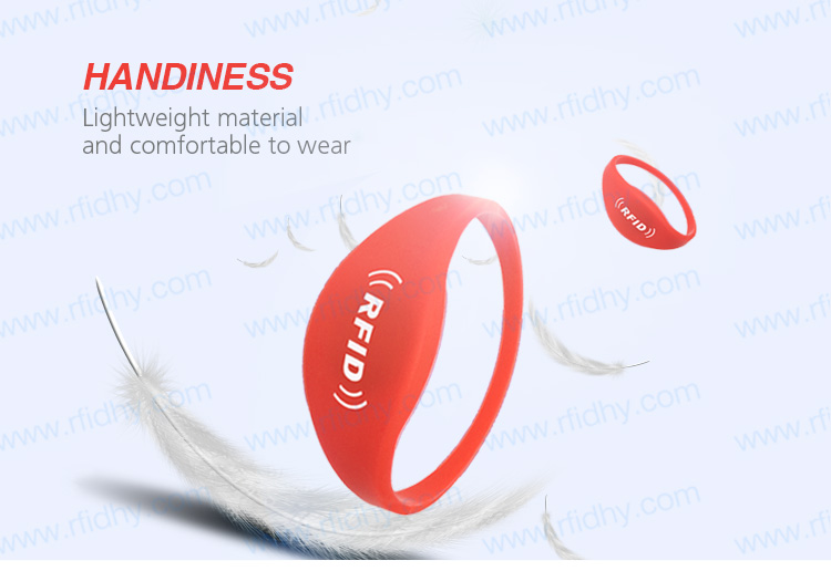 HYWGJ05 Fashion MIFARE Ultralight Ev1 Silicone Wrist Band RFID