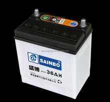 2016 good quality automotive battery manufacture lead acid MF car battery NS40 SMFJIS standard for sale