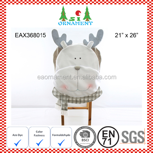 Silver reindeer chair cover for christmas home decoration