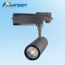 30W COB 2 / 3 / 4 wires commercial black colour lighting fixture high quality led track light