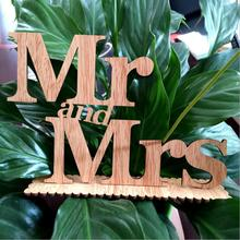 Factory direct sale of wooden Mr & Mrs Wedding decoration prop wood - letter - letter wedding goods Stock