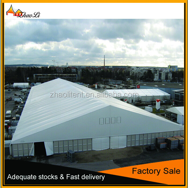 Large PVC tent warehouse cargo canopy 20m 30m 40m span outdoor tent