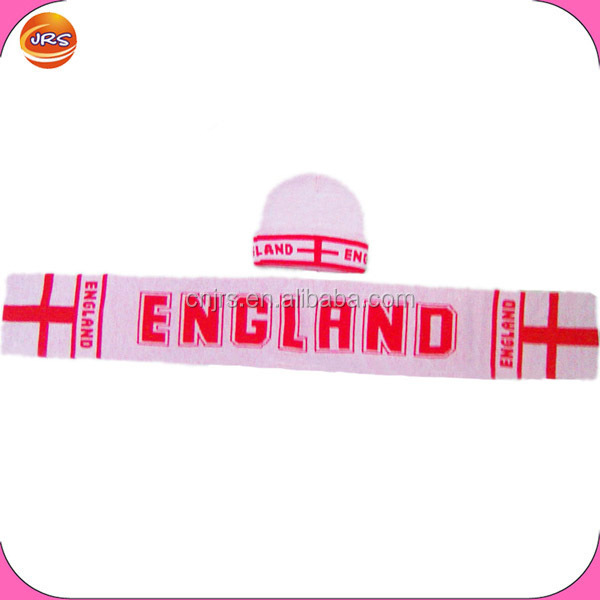 football England scarf and hat