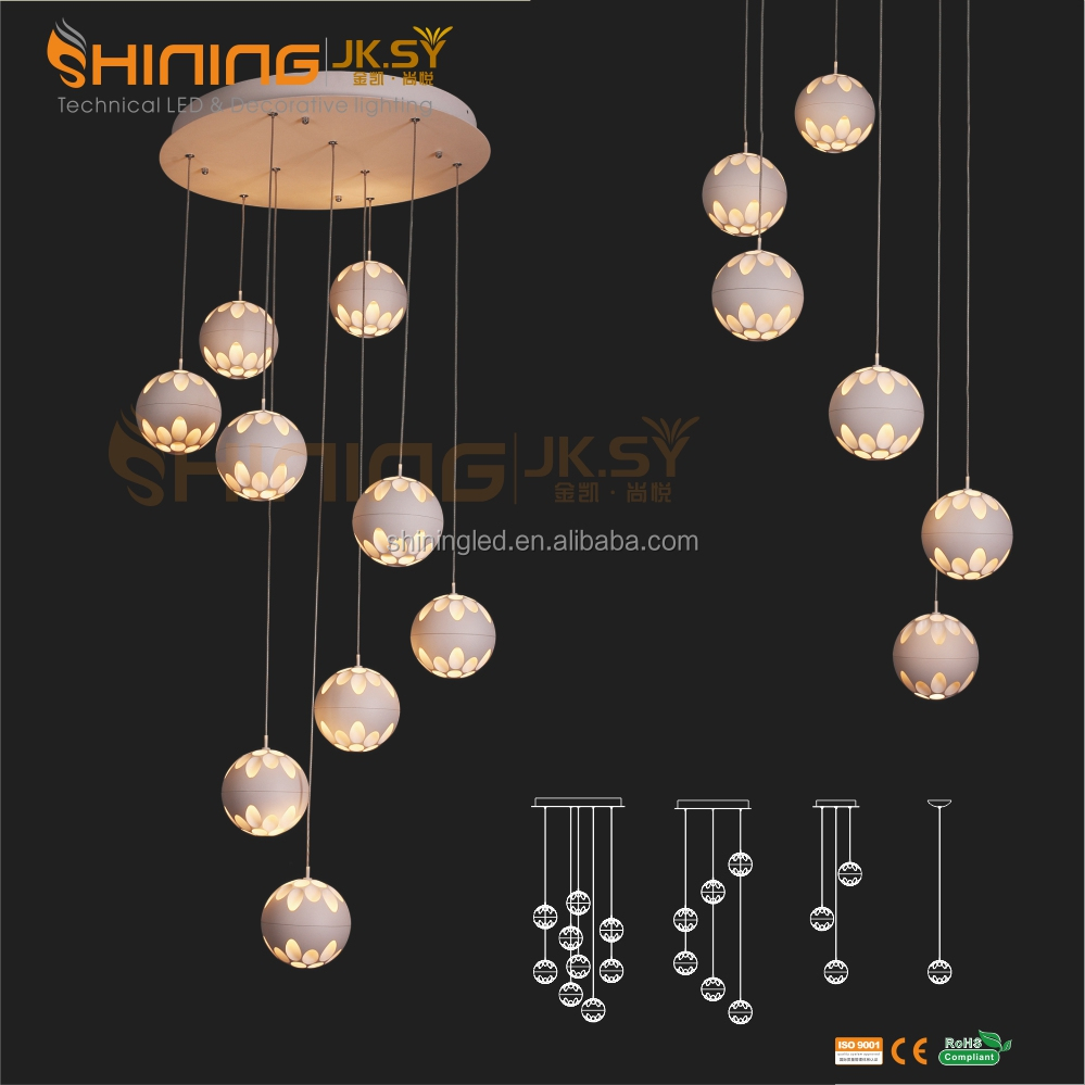 Modern single ring circle led pendant light for office commercial lighting
