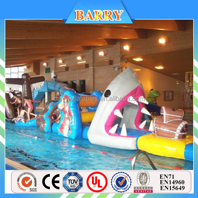 Floating Inflatable water obstacle course for sale, aqua pool Floating obstacle course Water sports games for kids
