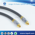with nylon fabric pearl nickel shell with gold tail ring Digital Optical Audio TosLink Cable