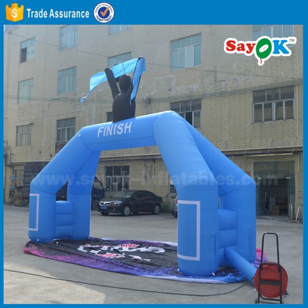 Outdoor cheap inflatable start / finish line arch, inflatable racing arch for adults