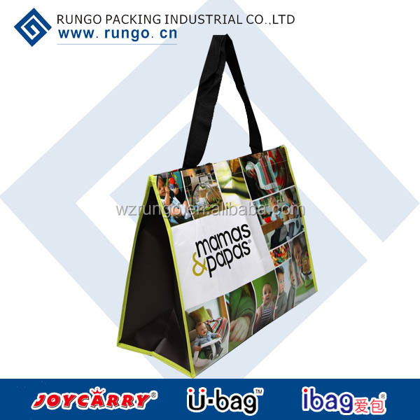 Eco green reusable shopper, big grocery bags