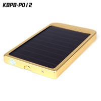 Aluminum shell solar mobile power charger 5000 mah super slim mobile power bank