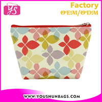attractive design full cover printing pu cosmetic bag for promotion