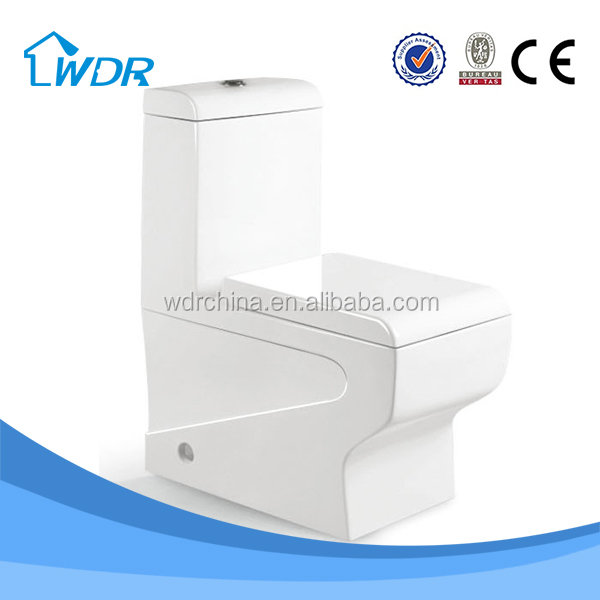 One piece closestool sanitary ware siphon ceramic toilet set