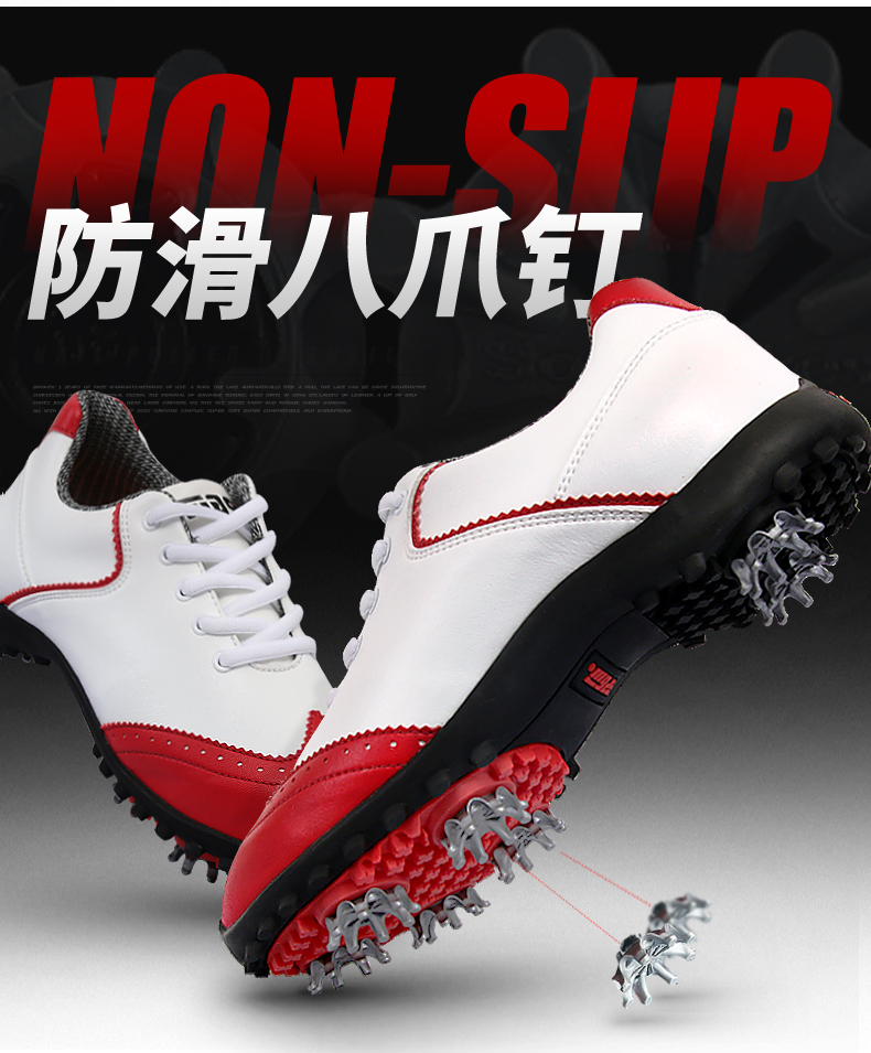2017 Ladies New Patent Design Golf Shoes
