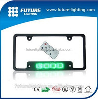 7x23dots RED remote car european led car license plate frame with LED display