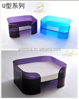 Factory custom acrylic luxury pet dog bed acrylic snuggle beds for pet wholesale