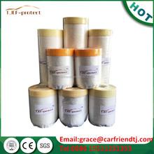 Spray paint masking film with sticky tape for car painting protect