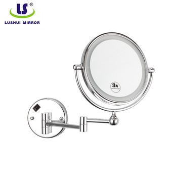 hot selling wall mount double wall electric magnifying mirror