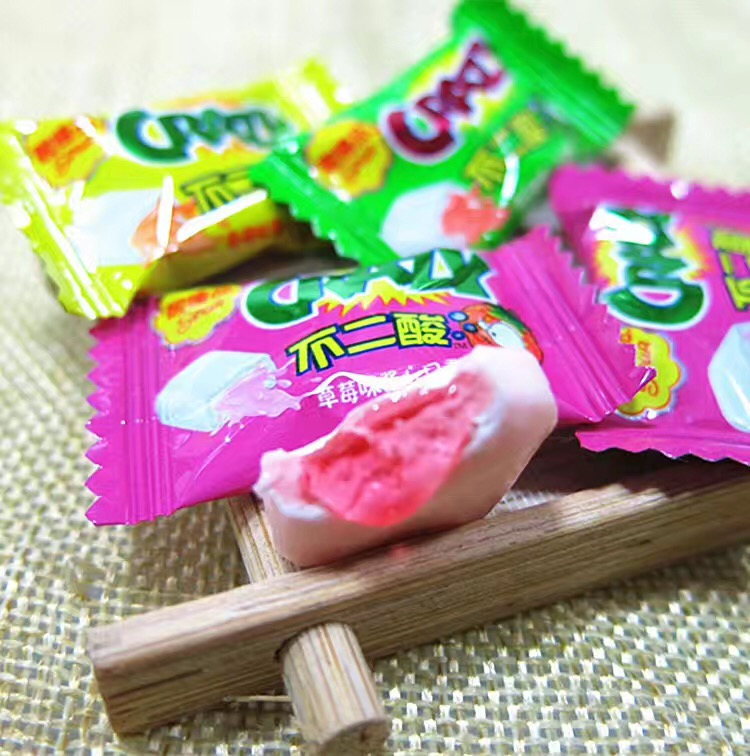 center filled bubble gum chewing gum