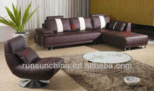 2013 single orange leather sofa