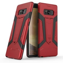 Factory price tpu pc shockproof hybrid kickstand case for samsung galaxy note 8