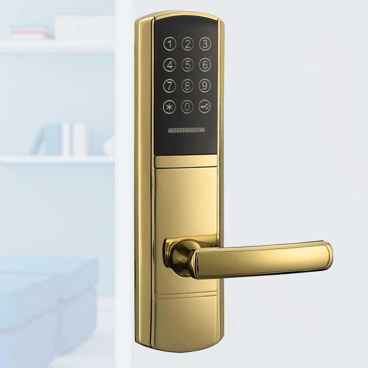 Touch Screen High Security Waterproof Keyless Sliding Front Door Locks and Handles