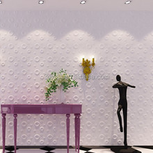 CE cerification bedroom decorating 3d wallpaper decor pvc wall paneling