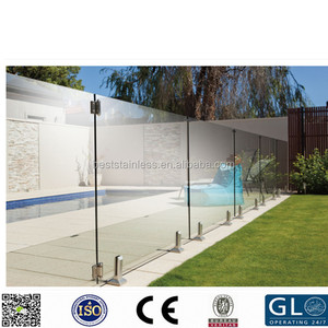 Removable SS316L swimming pool railing and frameless pool fencing glass