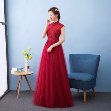 QX3953 The new 2017 thickening winter long sleeve dress red cheongsam dress