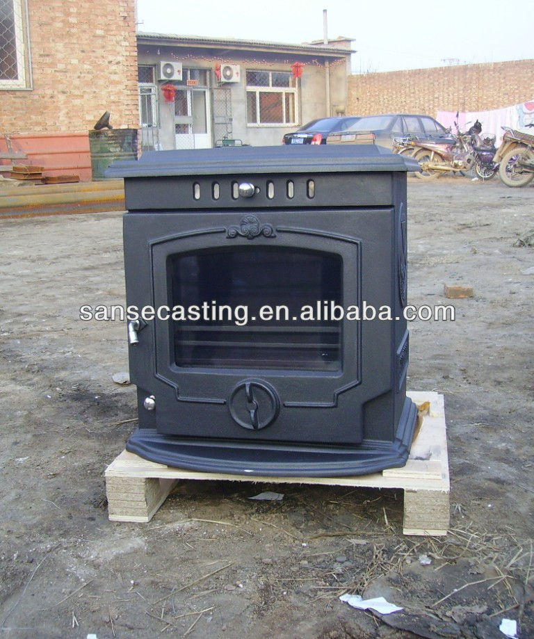 Factory direct selling cast iron stove with boiler (BOM-BSC321)