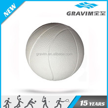 All white color basketball anti stress ball