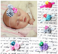 Wholesale Boutique Satin Rhinestones Flower Foe Hairbands, Kids rose hair band accessories