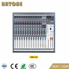 MIX-16 Professional 16 channel dj USB power audio cheap music dj mixer
