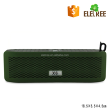 ELETREE portable hifi hands free call x-bass car stereo x602 mp3 bluetooth speaker driver