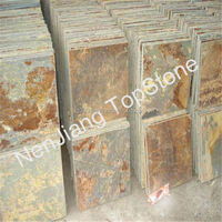 natural slate products decorative yelow rusty slate tile for wall and floor