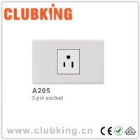 Factory price manufactured wall socket 3 pin socket socket outlet