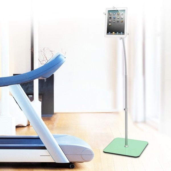 Adjustable Gooseneck Floor Stand Holder For iPad, Galaxy And Other Tablets