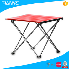 hot sell high quality outdoor used portable lightweight camping aluminum picnic short folding table