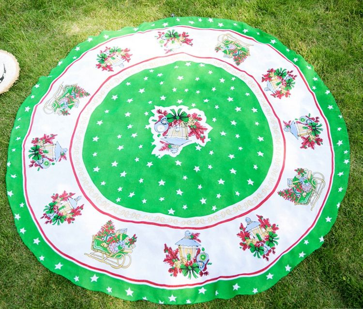 Baoding supply fashion printed round beach towel with tassel