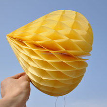 2016 Hot sale Heart Shape Tissue Paper Honeycomb Ball Wholesale For Wedding Birthday Christmas Party Decoration