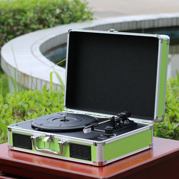 Suitcase Turntable with Aluminum Trim OEM Vinyl Player Bluetooth USB SD