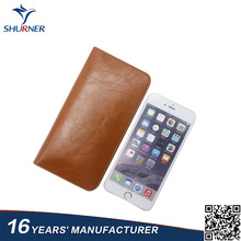Custom new design android phone leather case cellphone leather case manufacturer