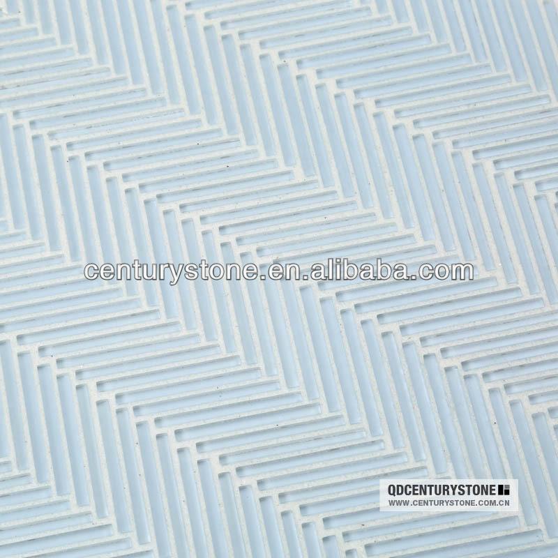 하늘색 얇은 스틱에게 herringboneglossy 패턴 주방 backsplash, 욕실 벽 ...