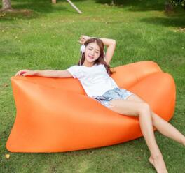 Outdoor and Indoor Sleeping Bag Spring Tour Best Camping Equipment Inflatable Sofa Hangout Portable Air Bed Beach Garden Laybag