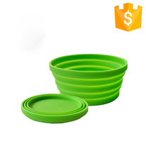 Newest 100% Food Grade FDA Convenient Unbreakable Collapsible Silicone Pet Bowl