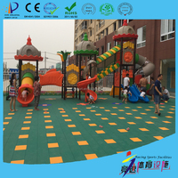 Environmental friendly and recyclable colorful kindergarten outdoor flooring
