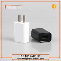 High quality custon logo 5v 1A flat usb wall charger