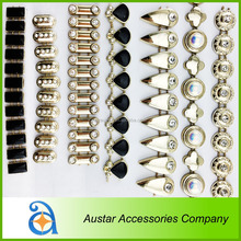Shiny gold metallic plating color plastic rhinestone trimming