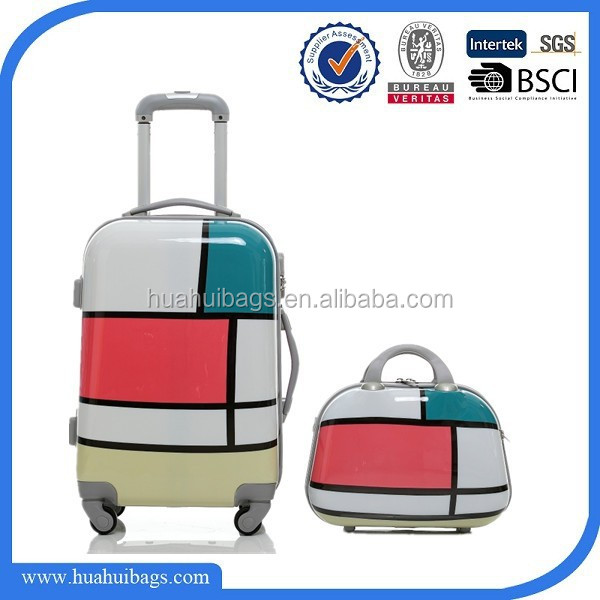 Fashion geometric patterns luggage sets suitcase