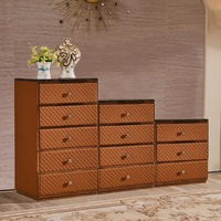 FO441 New design modern storage furniture leather chest of drawers