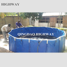 PVC foldable and portable plastic pond for Koi show