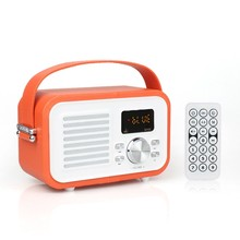 Newest colorful leather kids boombox with microphone with handle USB TF card for ES-F693